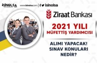 Ziraat Bankası İstanbul'da 20 Müfettiş Yardımcısı...
