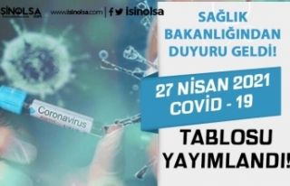 27 Nisan 2021 Covid - 19 Hasta ve Vaka Tablosu Yayımlandı!