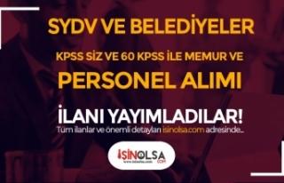 4 SYDV ve 6 Belediye KPSS siz ve KPSS 60 İle Memur...