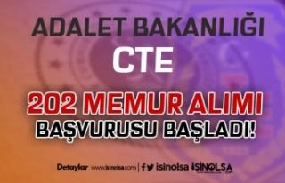 Adalet Bakanlığı CTE 202 Memur Alımı Başvurusu...