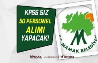 Ankara Mamak Belediyesi 50 Kamu Hizmeti Personeli...