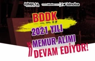 BDDK 2021 Yılı 120 Meslek Personeli Memur Alımı...