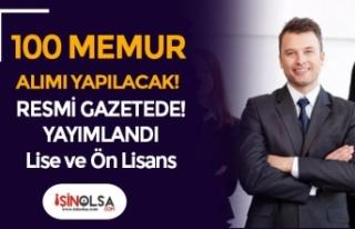 Büyükşehir Belediyesine 100 Memur Alım İlanı...