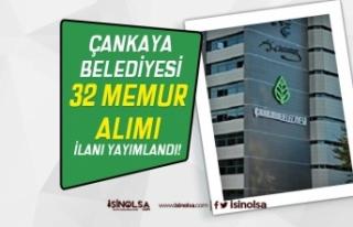 Çankaya Belediyesi İki İlan İle 32 Memur Alımı...