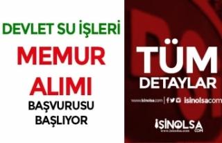 Devlet Su İşleri ( DSİ ) KPSS Puanı İle Memur...