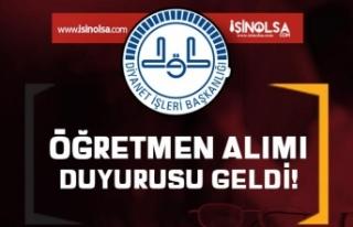 Diyanet'ten 2020 yılı PDR Öğretmen Alımı...