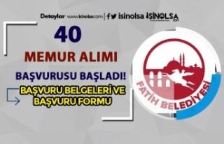 Fatih Belediyesi 40 Zabıta Alımı Başvuru Formu...