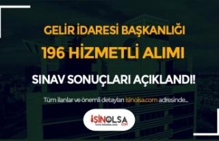 Gelir İdaresi 196 Hizmetli Alımı Giriş Sınavı...
