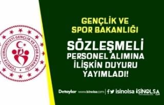 GSB Gençlik ve Spor Bakanlığından Sözleşmeli...