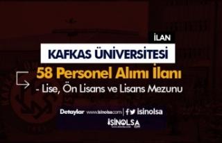 Kafkas Üniversitesi En Az Lise Mezunu Sözleşmeli...