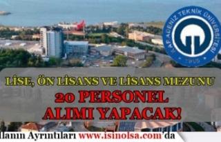 Karadeniz Teknik Üniversitesi En Az Lise Mezunu 20...