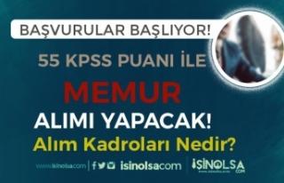 KPSS En Az 55 Puan İle Belediye Lisans Mezunu Memur...