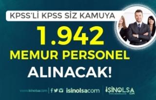 KPSS'li KPSS siz Kamuya 1942 Personel ve Memur...