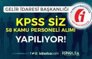KPSS Şartı Olmadan GİB 15 Farklı Kadro İçin...