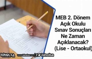 MEB 2. Dönem Açık OkuluSınav Sonuçları...