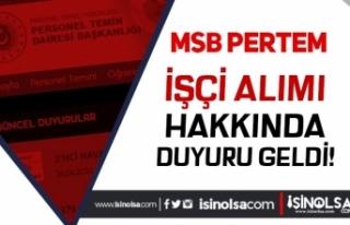 Milli Savunma Bakanlığı MSB ( PERTEM ) İşçi...