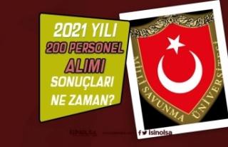 MSÜ 2021 Yılı 200 Personel Alımı Sonuçları...