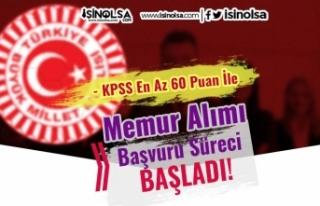 TBMM 60 KPSS Puanı İle Kadrolu Memur Alımı Yapacak!...