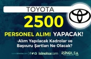 TOYOTA 2500 Personel Alımı Yapacak! İŞKUR Üzerinde...
