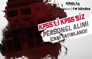 Yeni İlan: DSİ Bölge Müdürlüğü KPSS'li...