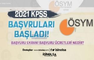 2021 KPSS Başvuruları Başladı! Başvuru Ekranı...