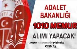 Adalet Bakanlığı 2021 Yılı 1010 Memur Alımı...