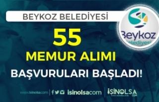 Beykoz Belediyesi 55 Memur Alımı Başladı! Kimler...