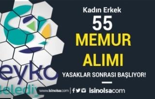 Beykoz Belediyesi 55 Memur Alımı Yasaklar Sonrası...