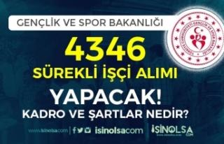 Gençlik ve Spor Bakanlığı 4346 İşçi Alımı...