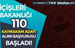 İçişleri Bakanlığı 110 Kaymakam Adayı Alımı...