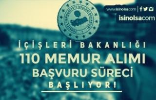 İçişleri Bakanlığı 110 KPSS siz Memur Alımı...