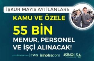 İŞKUR Mayıs Ayı Kamu/Özel İlanları: 55 Bin...