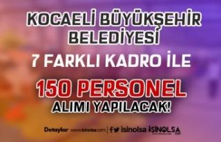 Kocaeli Büyükşehir Belediyesi BELDE 7 Farklı Kadro...
