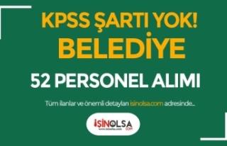 Konya Karapınar Belediyesi KPSS siz 52 Personel Alımı...