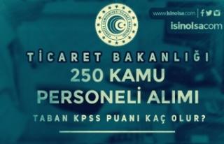 KPSS 2021/6 İle Ticaret Bakanlığı Personel Alımı...