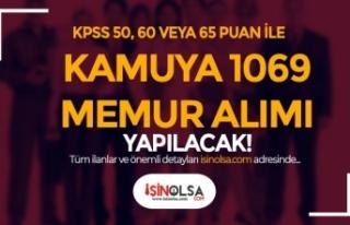 KPSS En Az 50, 60 ve 65 Puan İle Kamuya 1069 Memur...