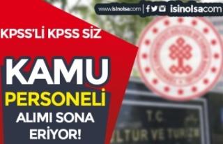 Kültür Bakanlığı KPSS'li KPSS siz 10 Kamu...