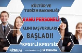 Kültür Bakanlığı KPSS'li KPSS'siz Kamu...
