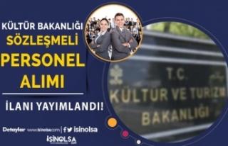 Kültür Bakanlığı YTB Sözleşmeli Personel Alımı...