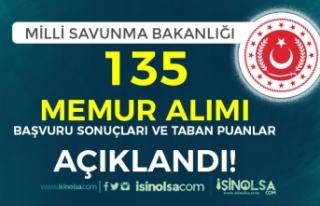 MSB ve MSÜ 135 Devlet Memuru Alımı Başvuru Sonuçları...