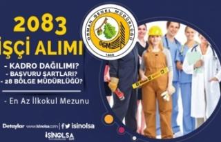 OGM 2083 İşçi Alımı Kadroları - Başvuru Tarihi,...