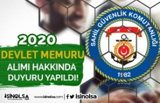 Sahil Güvenlik Komutanlığı 2020 Devlet Memuru...