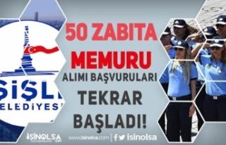 Şişli Belediyesi 50 Zabıta Memuru Alımı Başvuruları...