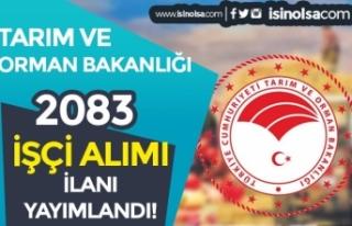 Tarım Bakanlığı Türkiye Geneli Daimi ve Geçici...