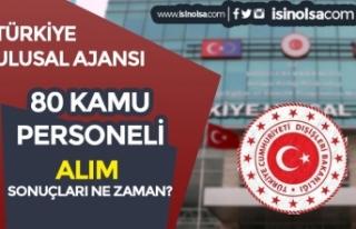 Türkiye Ulusal Ajansı 80 Kamu Personeli Alımı...