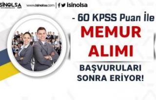 60 KPSS Puanı İle Memur Alımı Yapılacak! YSK...