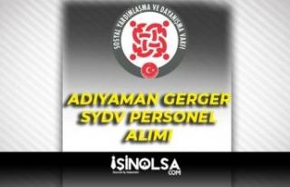 Adıyaman Gerger SYDV 4 Temizlik Personeli Alımı...