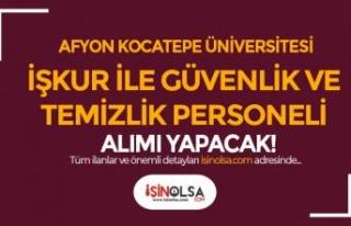 Afyon Kocatepe Üniversitesi En Az İlköğretim Temizlik...