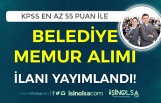 Akıncılar Belediyesi 55 KPSS Puanı İle Lisans...