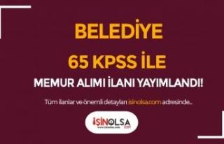 Alay Belediyesi 65 KPSS İle Memur Alımı İlanı...